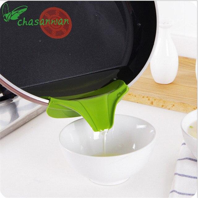 CHASANWAN Utensili Da Cucina Imbuto Anti-spill Padelle Cerchio In Silicone Defle
