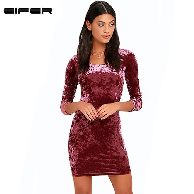 7373f8a5bc 2017 Sexy Pink Velvet Spring Summer Dress Vintage Ladies Long Sleeve  Dresses Elegant Women Bodycon Dress