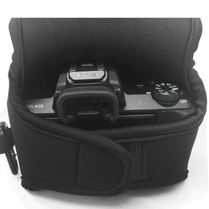 Image 5 - Portable Protective Neoprene Soft Inner Case Cover camera bag for Canon EOS M50 M6 Mark II with 15 45mm lens Digital Camera ONLY