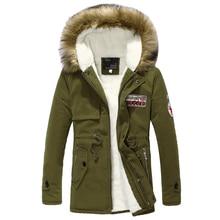Wool Linner 남성 겨울 자켓 육군 녹색 2020 겨울 남성 두꺼운 따뜻한 모피 칼라 롱 자켓 남성 후드 파카 남성 코트