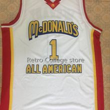 18ebb564e TRACY McGRADY  1 Dolphins McDonald ALL AMERICAN Mens Basketball Jersey  Embroidery Stitched Customize any name