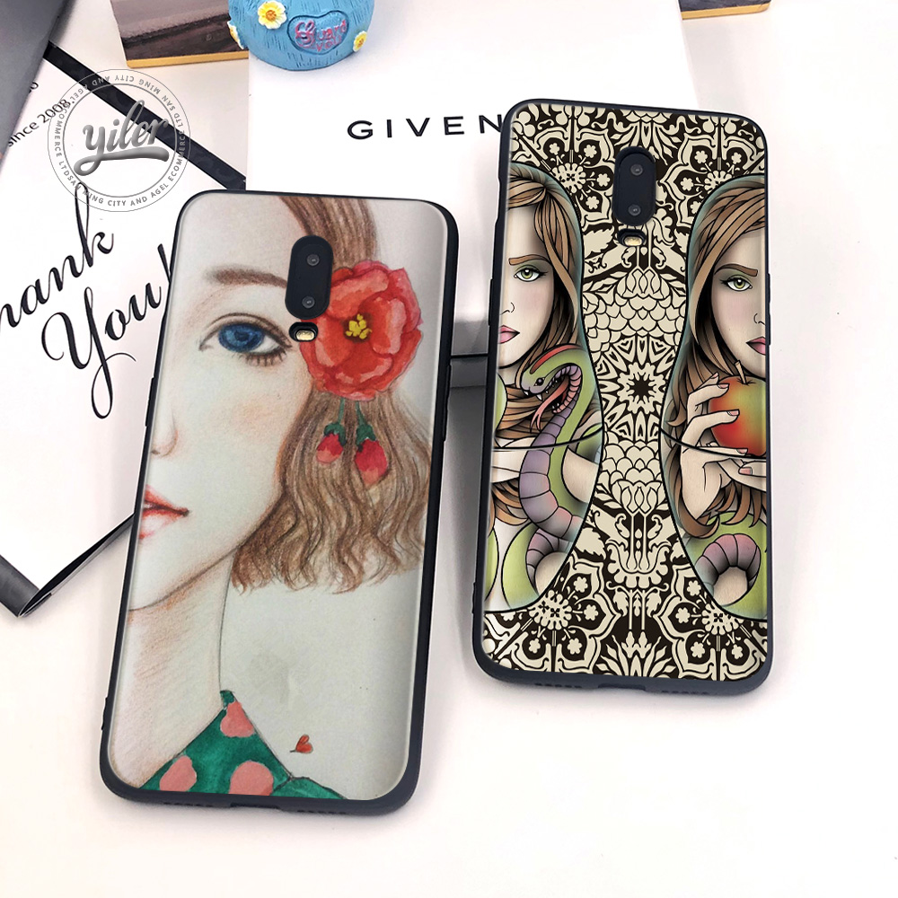 Matryoshka doll For Case Oneplus 6T 7 Cover Black Soft for Phone Cases 1+6T Capa cover