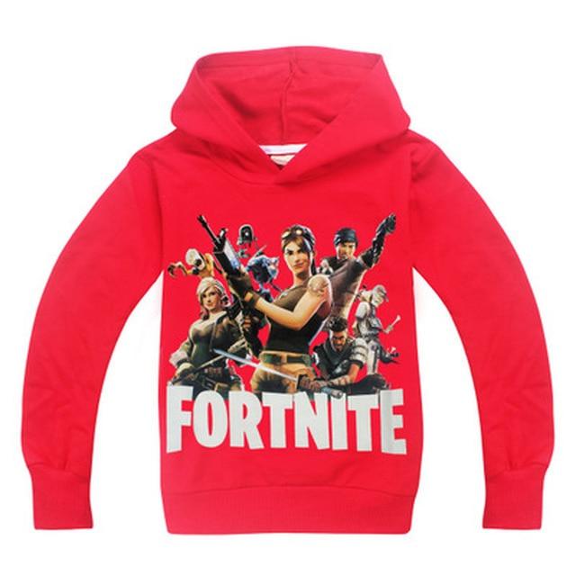 Children Hot Game Fortnight Print T-shirt Boy Girls hoodie Tops Costume For Kids Clothing Baby boys spring autumn clothes batman 3