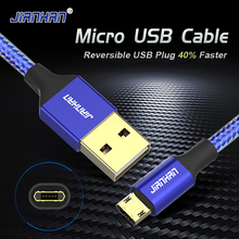 Reversible Micro Double side USB Cable 5V2A Fast Charging Data cord Plug For Samsung Xiaomi Android Phone Braided power plu