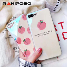 8849fa9c818 Funda para teléfono 3D Fruit melocotones para iPhone 6 6 s 7 8 Plus X Soft