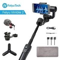 Feiyu Vimble 2 Extendable Handheld Phone Gopro Gimbal Video Stabilizer for iPhone X 8 7 Gopro Hero 6 Xiaomi Yi Samsung S8