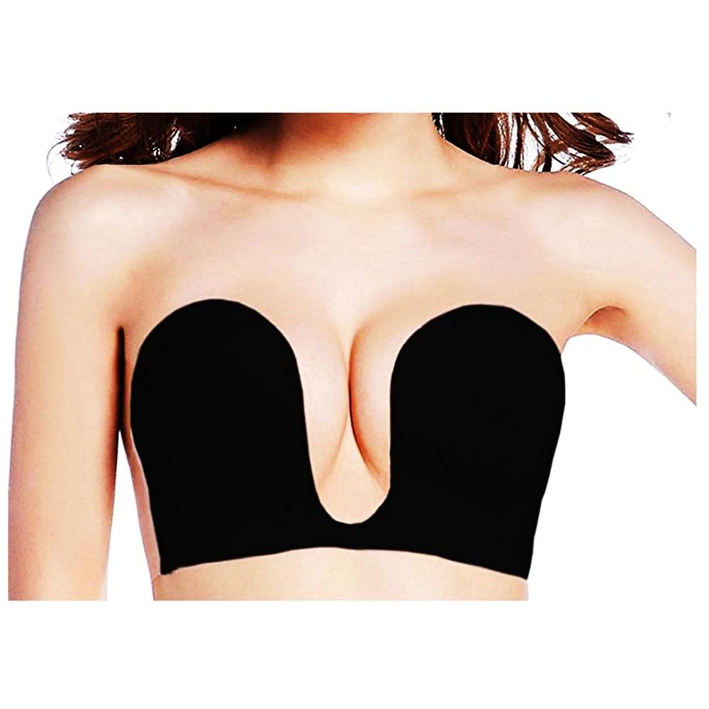 Silicone gel Self-adhesive Stick on Push Up Strapless bra