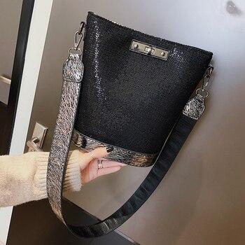ad893f3a5f51 Весна 2019 Новое поступление Женская сумка с блестками модная сумочка  роскошные кожаные сумки на плечо маленькие сумки через плечо для женщи.