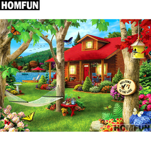 HOMFUN Full Square/Round Drill 5D DIY Diamond Painting Garden & house Embroidery Cross Stitch 5D Home Decor Gift A01697 homfun full square round drill 5d diy diamond painting garden