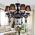 New Modern Luxury Black Crystal Chandelier Home Lighting E14 Candle Crystal LED Lamp lustres de cristal Pendants Indoor Lighting