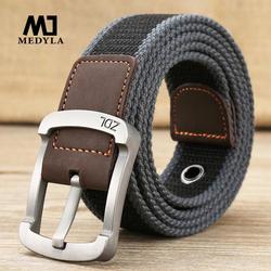 MEDYLA военный пояс тактический ремень Мужская и женская обувь высокого качества Холст ремень для джинсов мужской роскошные классические