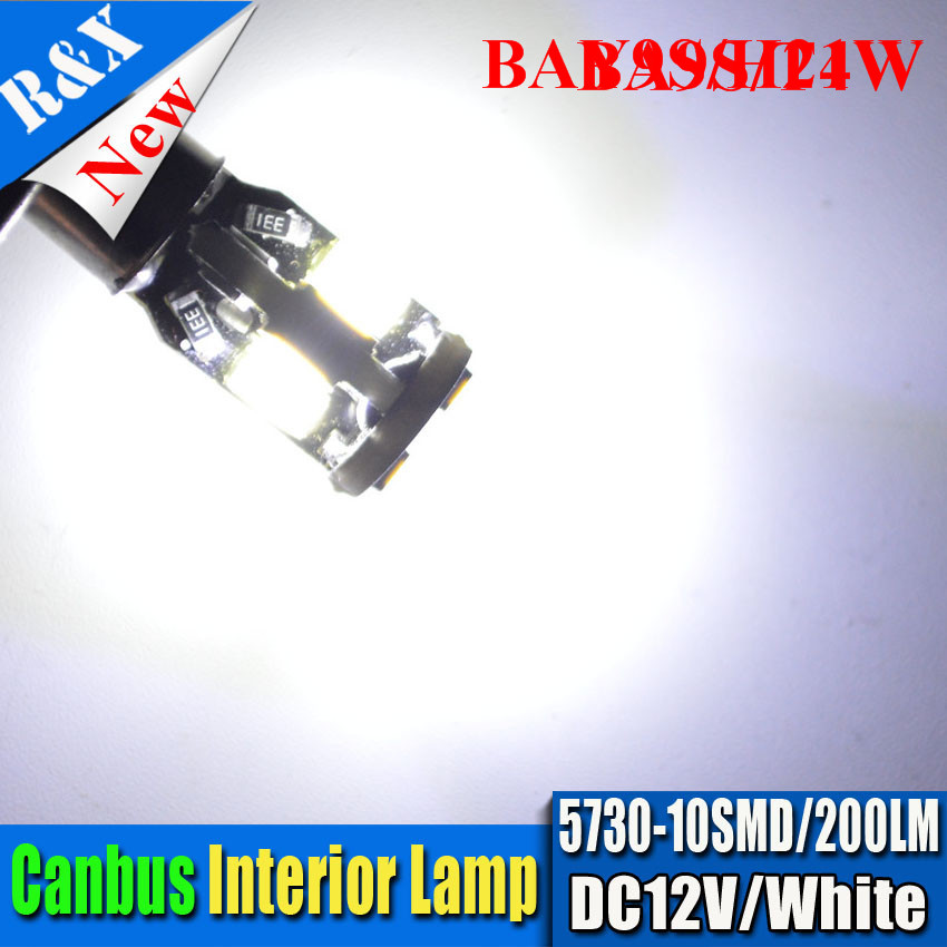 2pcs 12V H21W BAY9s BA9S BAX9S H6W Canbus Super Bright White 1W High Power 10 SMD 5730LED Lights Bulbs Base h21w bay9s in Signal Lamp from Automobiles Motorcycles