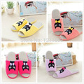 Free shipping Boys and girls Cute Cats Candy Color Open Toe Slippers Slippers Retail