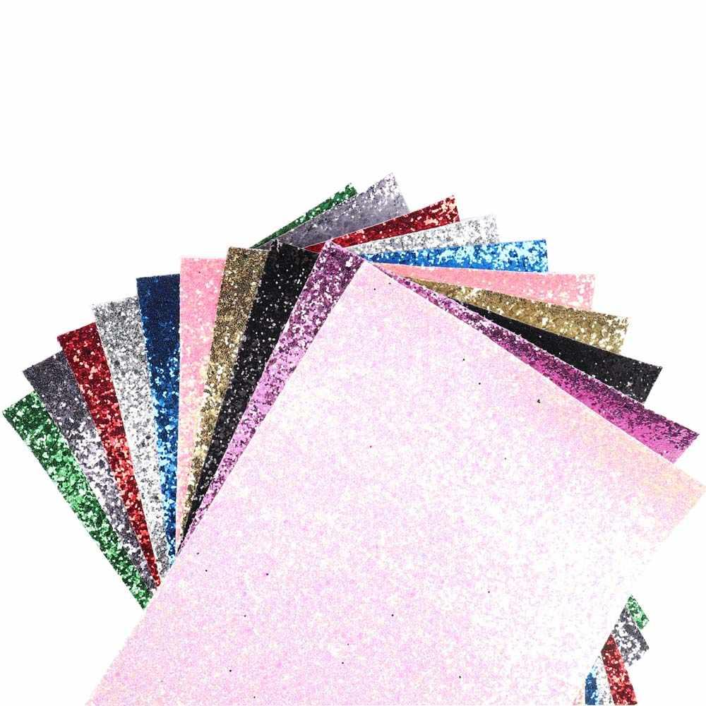 AHB tıknaz Glitter kumaş parlak lazer Sequins Patchwork DIY çanta ayakkabı yay yapmak için malzeme el yapımı deri kumaş