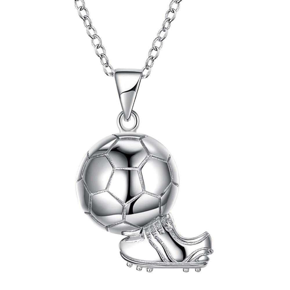 Hot Sale 925 Shoes Soccer World Cup Sports Sterling Silver Necklace Jewelry for Men Women Children Gift Pendant Necklace hot sale special shape pendant women s necklace