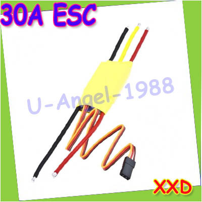 30A Brushless Motor ESC Speed Controller for trex 450  RC helicopter 30A esc +Free shipping jaguar j806 3