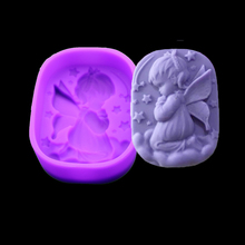 Angel Girl Natural Soap Handmade Soap Mold Silicone Cake Ice Modeling Tool Pastry Arts Decorative russian decorative arts