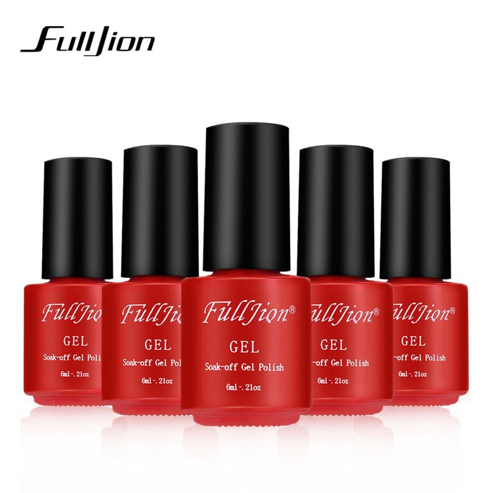 ᗗFulljion Brand 30 Colors Gel Nail Polish UV Gel Nail Polish Long ...