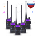 5 pcs/lot BAOFENG UV-5R 136-174 / 400-520 Mhz Dual Band Two Way radio li-ion battery Radio free earpiece Walkie Talkie