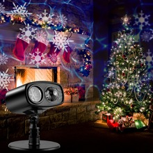 Moving Blue watermark Snowflake Laser Projector Lamp LED Stage Light Christmas New Year Party Halloween Outdoor