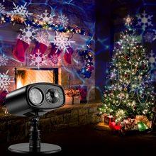 e3a42167ac4 Movimiento azul marca de agua de copo de nieve lámpara de Proyector láser  etapa luz LED Navidad Año Nuevo fiesta de Halloween al.