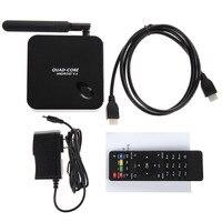 Genuine Home Audio TV Receiver Set Top Boxes Quad Core 1080P Smart TV BOX With Remote