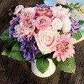 """Altura 30 cm/11.8 """"Silk Dália Buquê de Casamento Flor Rosa Artificial Decoração de Casamento Flores Bouquets de Noiva Falso FlowerHome"""