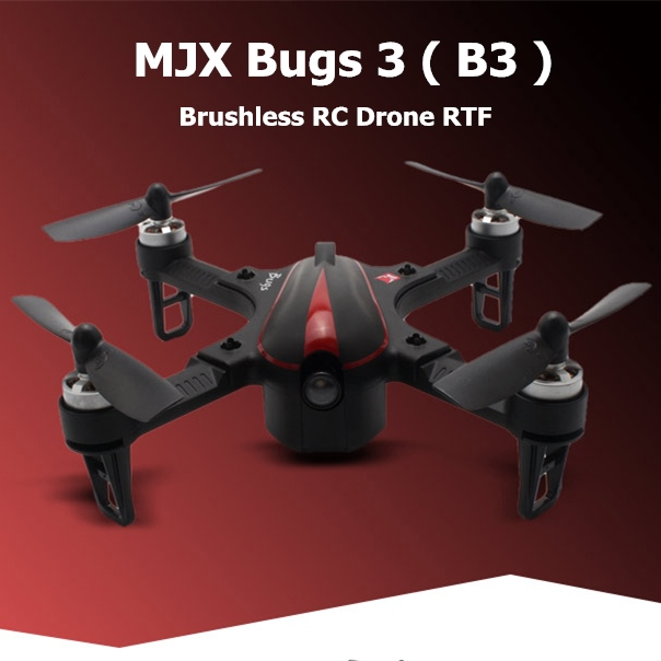 Original MJX B3 <font><b>Mini</b></font> RC <font><b>Drone</b></font> 5.8G <font><b>FPV</b></font> <font><b>Brushless</b></font> Motor Quadcopter 7.4V Battery Helicopter Outdoor Long Time Flying <font><b>Drone</b></font> Boys image