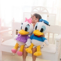 1pcs 60cm Cute Stuffed Dolls Donald Duck Daisy Duck Soft Plush Toys Kids Toys Low Price
