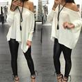 New Fashion Hot Selling Fashion Women Sexy Off-Shoulder Sleeve Party  Blouse Tops Free Shipping