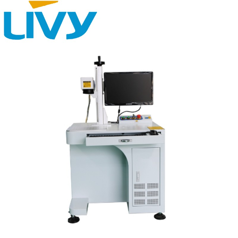 LV-F30A fiber laser engraving machine 30w 150mm with conveyor