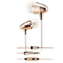 Marque New Gold Bullet Casque Surveillance Dans L'oreille Écouteurs Super Bass DJ Écouteurs Antibruit auriculaire pour Mobile Téléphone