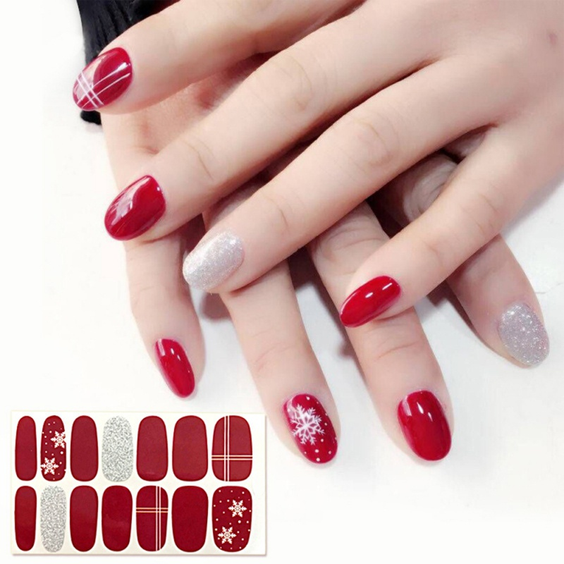 1Piece Christmas Halloween Nail Art Products Full Paste ...
