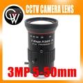 3.0 Megapixel Varifocal HD CCTV Cámara/SU Lente 5-50mm iris F1.4 CS Monte Con Manual Para Cámara IP