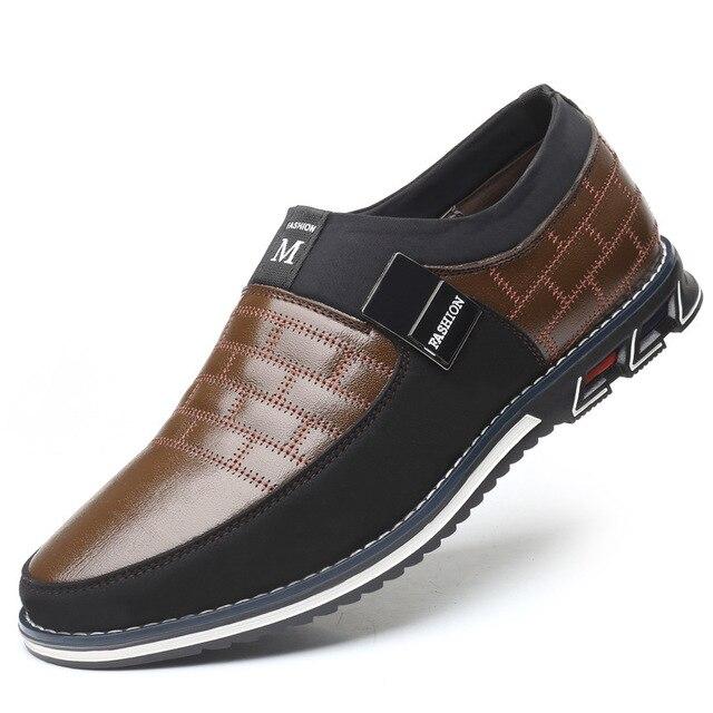 2019 г. Новые мужские кожаные туфли-оксфорды больших размеров 38-48 модные повседневные модельные туфли без застежки для формальных и деловых в... 2