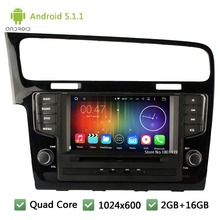 Quad Core WIFI FM Android 5.1.1 7″ 1024*600 Car DVD Player Radio Audio Stereo Screen For Volkswagen VW Golf 7 MK7 VII 2012-2015