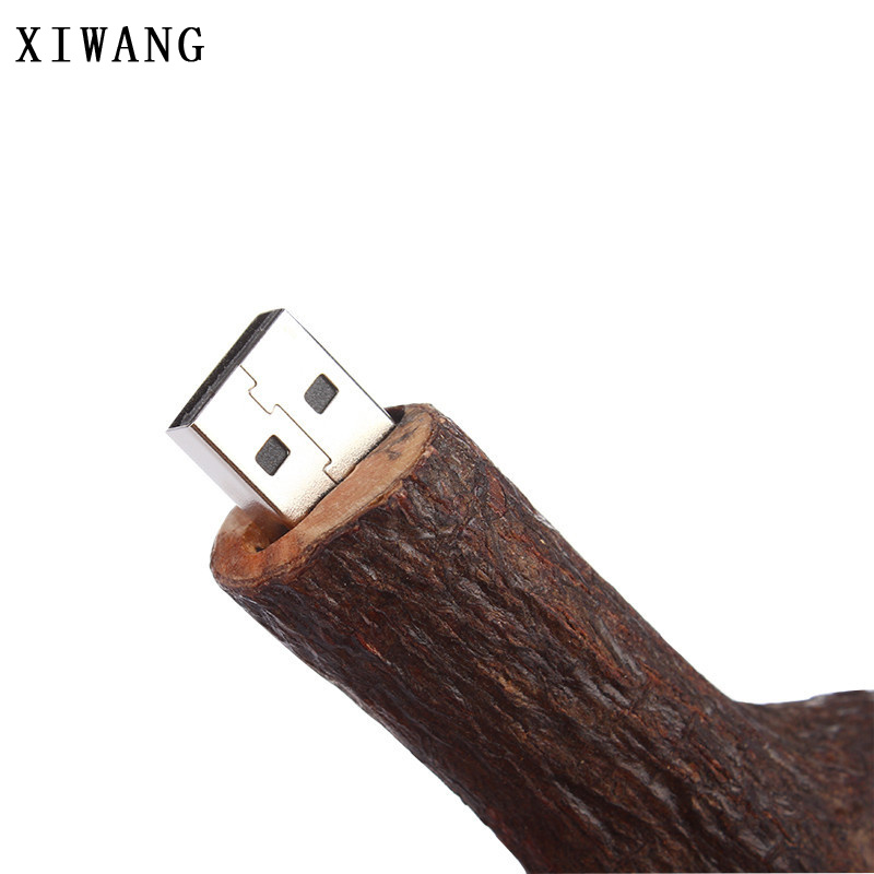 Image 4 - funny usb flash drive root memory usb 2.0 pen drive waterproof 32gb 64gb 8GB 4gb 16GB pendrive 128gb Wood branches creative gift-in USB Flash Drives from Computer & Office