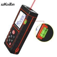 цена на 40M 60M Laser Distance Meter Rangefinder Laser Battery-powered Range Finder Digital Laser Measuring Tape Test Tool Measurer