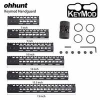 ohhunt Slim Style 7 9 10 12 13.5 15 AR15 Free Float Keymod Handguard Picatinny Rail with Steel Barrel Nut for Scope Mount
