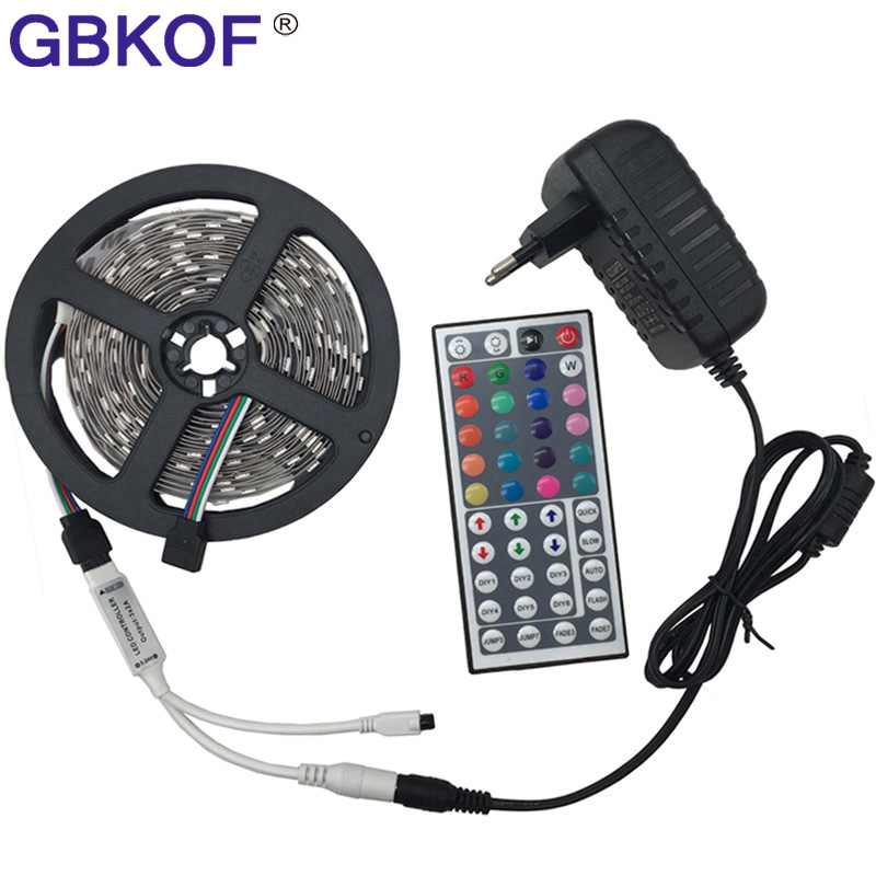 RGB led strip Light 10M 5M 5050 2835 non waterproof led light 10M flexible rgb diode led tape set+Remote Control+DC 12V Power 5m rgb led strip flexible light belt 2835 waterproof diode band diode tape power supply 12v outdoor warm white blue red green