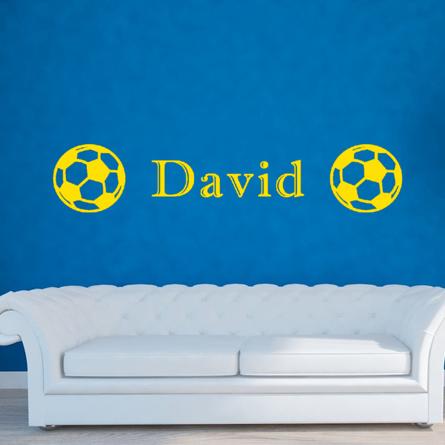 2017 Hot Personalized Vinyl Wall Art Stickers Soccer Children\'S Room ...