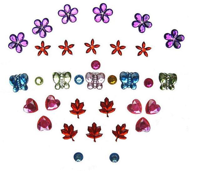 200 unids grande forma surtidos colores Lentejuelas flor/corazón ...