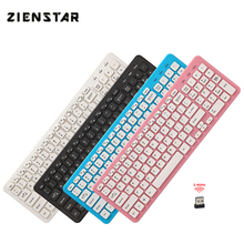 Zienstar Ultra Slim 2.4G Wireless Keyboard  with USB Receiver for Macbook,Computer PC,Laptop ,TV BOX and Smart TV,English Letter russian english letter 2 4g wireless keyboard mouse combo with usb receiver for desktop computer pc laptop and smart tv