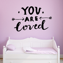 цена на Cartoon you are loved Wall Sticker Pvc Removable For Home Decor Living Room Bedroom Sticker Mural Decorative Stickers