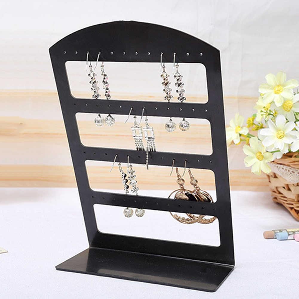 24/48 agujeros pendientes exhibidor soporte joyería exhibición estante acrílico joyería organizador collar joyería exhibidor pendiente