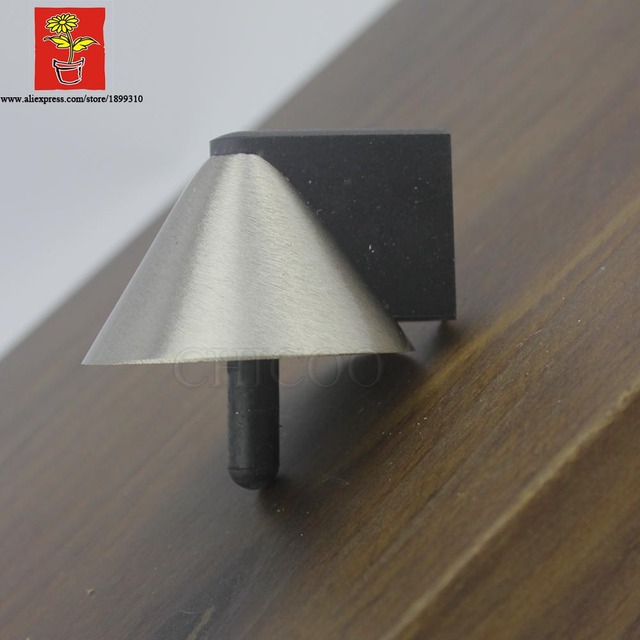 doorstopper Zinc alloy Satin chrome pyramid door stopsFloor mounted doorstop & doorstopper Zinc alloy Satin chrome pyramid door stopsFloor mounted ...