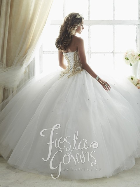 Vestidos De 15 Anos de Debutante Balón vestido de Encaje Blanco Vestido durante 15 Años Baratos Vestidos de Quinceañera 2016 Appliques Oro