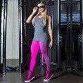 S-QVSIA Mulheres Yuga Sportswear Roupas de Fitness Pacote hip Falso 2 Peça Macacão Esportivos Macacão Sexy Bodysuit