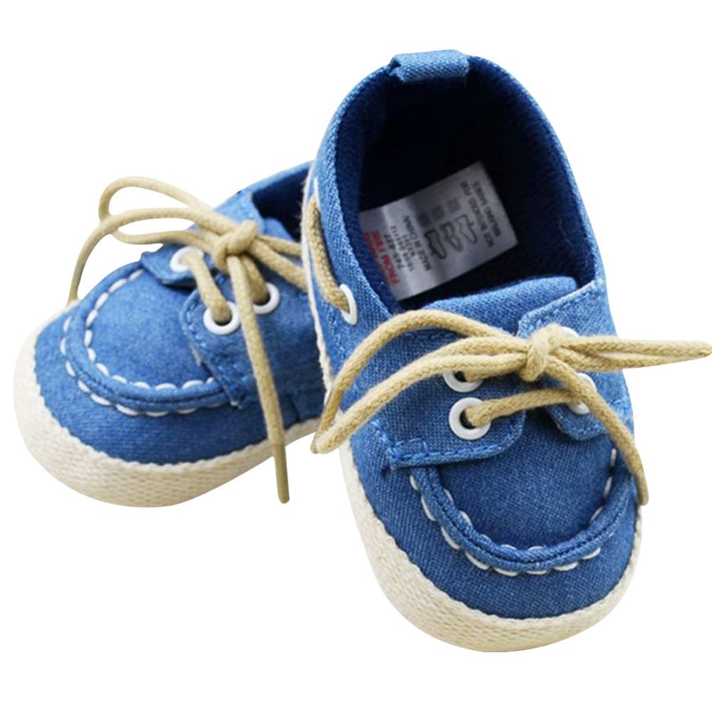 Baby Boy Girl Crib Soft Bottom Sko Infant Toddler Shoes Sneaker Fit 0-18 Months
