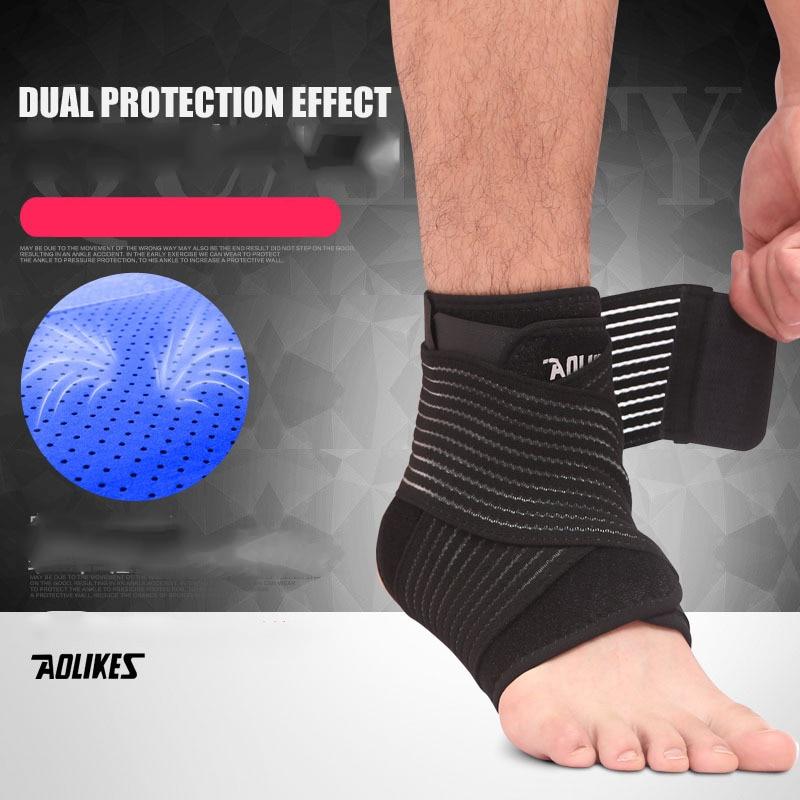 1 Pc Pro Sports Fitness Feet Cross Winding Ankle Dual Protector Guards Belt Bracer